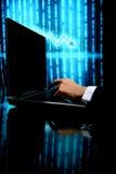 Laptop het financiënwerk Royalty-vrije Stock Foto's