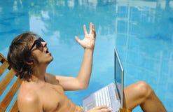 Laptop holiday Royalty Free Stock Image