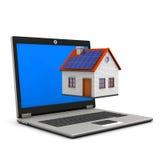 Laptop House Royalty Free Stock Photos