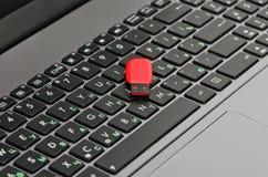 Laptop i błyskowa pamięć Obrazy Stock