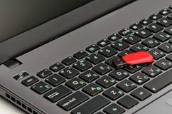 Laptop i błyskowa pamięć Zdjęcie Royalty Free