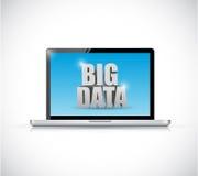 Laptop i duży dane wiadomości ilustracyjny projekt Obraz Royalty Free
