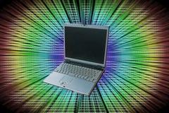 Laptop i informacja. Obrazy Royalty Free