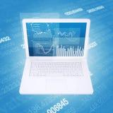 Laptop i wykresy Obraz Royalty Free