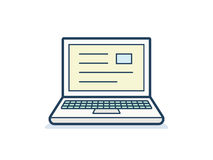Laptop icon. Clean and simple  with application window. Vector illustration Stock Photography