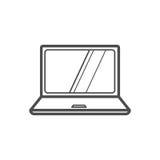 Laptop icon. Outline laptop icon , vector illustration for web design etc Royalty Free Stock Photo