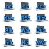 Laptop icon set Royalty Free Stock Images