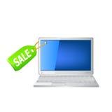 Laptop icon set Stock Photo