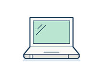 Laptop icon. Laptop symbol. Clean and simple laptop icon. Vector illustration Stock Photo