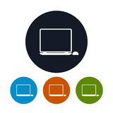 Laptop icon,  vector illustration Royalty Free Stock Photos