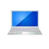 Laptop icon vector. Royalty Free Stock Photos