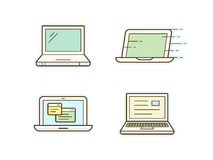 Laptop icons. Laptop icon set. Clean and simple laptop icons. Vector illustration Stock Image