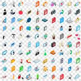100 laptop icons set, isometric 3d style. 100 laptop icons set in isometric 3d style for any design vector illustration Royalty Free Illustration