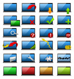 Laptop Icons Stock Photography