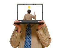 Laptop idea Stock Photo