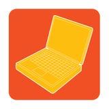 Laptop ikona Zdjęcie Stock