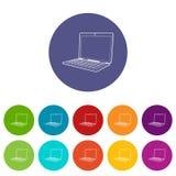 Laptop ikona, isometric 3d styl Zdjęcia Royalty Free