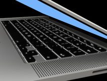 Laptop with illuminated keyboard Royalty Free Stock Image