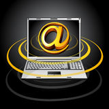 Laptop illustration  Royalty Free Stock Image