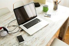 Laptop im Innenministerium Lizenzfreie Stockbilder
