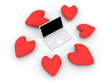 Free Laptop In Love Royalty Free Stock Images - 15786489