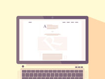 Laptop with internet blog on screen. royalty free illustration