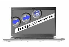Laptop internet Royalty Free Stock Image