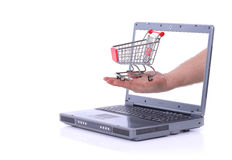 Laptop internet shopping Royalty Free Stock Image