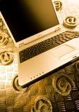 Laptop & Internet symbols Stock Photo