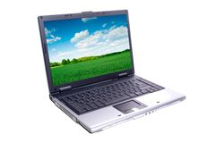 Laptop Isolated Stock Image
