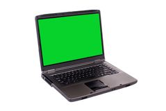 Laptop (isolated) Royalty Free Stock Image