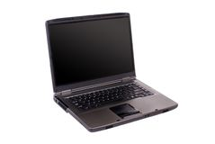 Laptop (isolated) Royalty Free Stock Photography