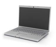 Laptop Isolated [Clipping Path]. High end Portable Computer with empty screen Royalty Free Stock Photo