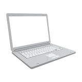 Laptop isolated perspective view Royalty Free Stock Photo