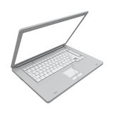 Laptop isolated perspective view Stock Photo