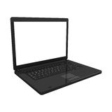 Laptop isolated perspective view Royalty Free Stock Photography