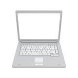 Laptop isolated top view Stock Photos