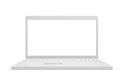 Laptop isolated, white. With copy space Royalty Free Stock Image
