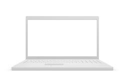 Laptop isolated, white Royalty Free Stock Image