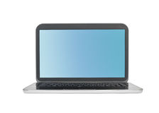 Laptop isolated on white Stock Photography