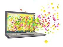 Laptop isolated on white. Background Stock Photo