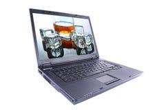 Laptop isolated on white Royalty Free Stock Photos
