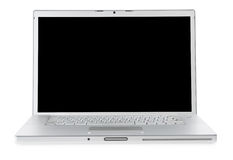 Laptop isolated on white. Two clipping path's included - for laptop & for screne Stock Image