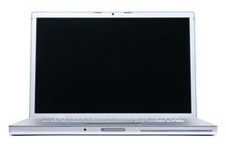 Laptop isolated on white. Two clipping path's included - for laptop & for screne Royalty Free Stock Photo