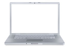 Laptop isolated on white. Stock Photo