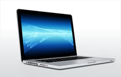 Laptop isolated on white background Stock Photography