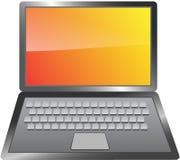 Laptop isolated on white background Royalty Free Stock Images