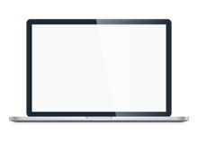 Laptop isolated on white background Stock Image
