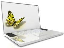 Laptop isolated on white Royalty Free Stock Image