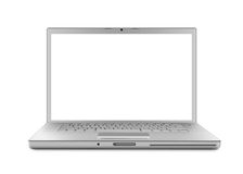Laptop isolated - XL Stock Image